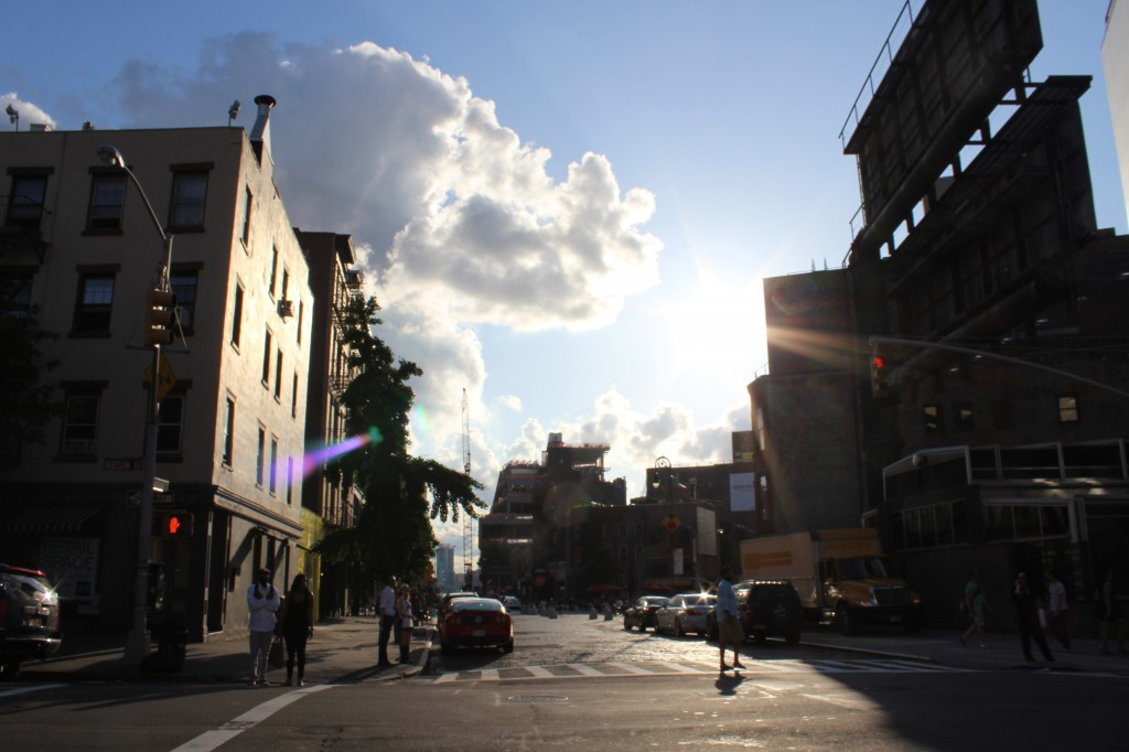 In the Meat Packing District in Manhattan, on the West Side... Sunbeams, as the sun was starting to go down in the summer. (2013)