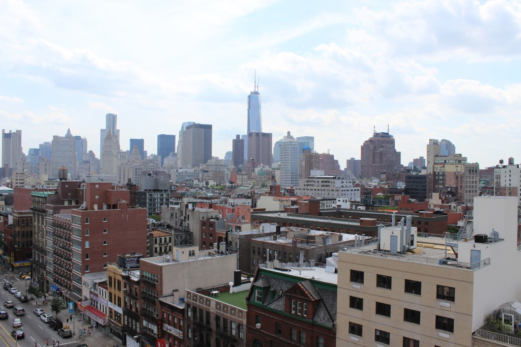 Love this view of Manhattan facing south/west, from the top of The New Museum in the Bowery.